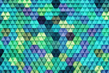 3D rendering of abstract triangle background