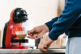 Man making coffee with coffee maker - 172240774