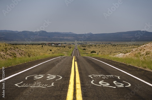 Foto op Plexiglas Route 66 The epic highway