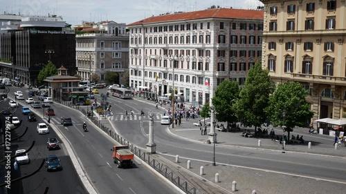 Sticker Traffic in Rome Italy