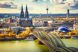 Aerial view of Cologne, Germany - 172292121