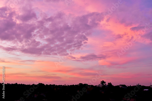 Aluminium Winter sunset sky