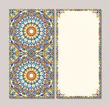 Colorful ornamental card element - 172297121