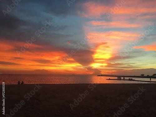 Foto op Plexiglas Zee zonsondergang Relex Time