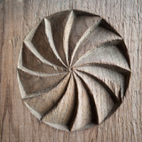 old wood carved detail - 172306971