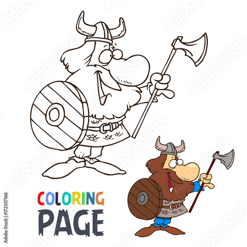 barbarian cartoon coloring page - 172307166