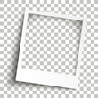 Bevel Instant Photo Frame Transparent Shadows
