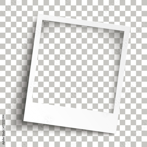 Fototapeta Bevel Instant Photo Frame Transparent Shadows