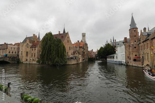 Foto op Aluminium Brugge Canale di Bruges