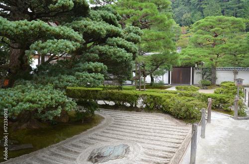 Foto op Plexiglas Kyoto Giardino zen del Tempio d'Argento a Kyoto