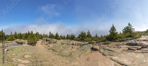 Wall mural view to Mount Cadillac in acadia national park