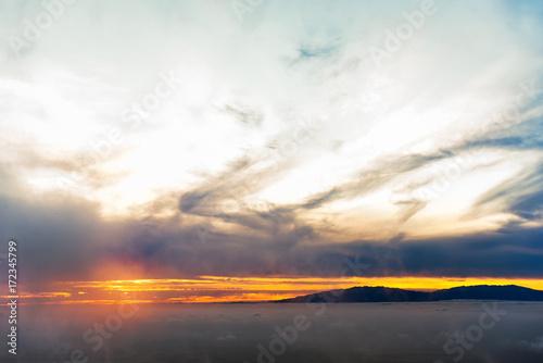 Foto op Plexiglas Zee zonsondergang Sonnenuntergang am Meer