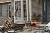 House damaged by disaster - 172347185
