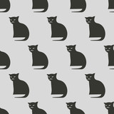 seamless cat pattern - 172350151