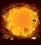 Halloween layered border for design - 172359373