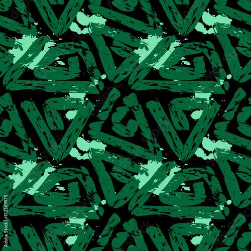 wzor-tapety,-zielone-trojkaty,-czarne-tlo