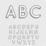 3D font With Shadow. Alphabet Set.
