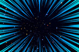 Hyper Speed Warp Sun Rays or Explosion Boom for Comic Books Radial Background Vector - 172371740