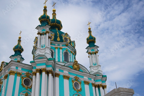 Foto op Canvas Kiev Ukrainian, Christian, St. Andrew's Church