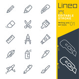 Lineo Editable Stroke - Writing and Art tools line icons Vector Icons - Adjust stroke weight - Expand to any size - Change to any colour - 172380758