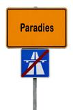 Ortsschild, Paradies - 172381569
