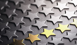Golden Stars Background Symbol of Business Excellence - 172382753