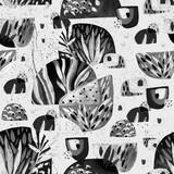 Abstract watercolor minimal seamless pattern. - 172386977