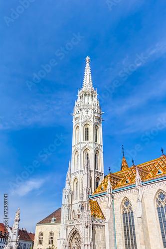 Matthiaskirche in Budapest auf dem Schlossberg im Burgviertel von Buda Poster