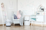 Pastel baby's room with cupboard - 172391398