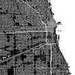 Chicago, Illinois. Downtown vector map.