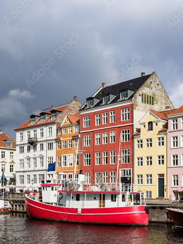 Nyhavn in der Stadt Kopenhagen, Dänemark Poster
