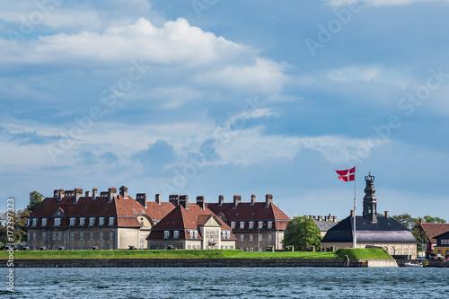 Gebäude in der Stadt Kopenhagen, Dänemark Poster