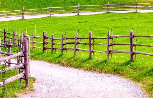 Deurstickers Lichtroze old fence