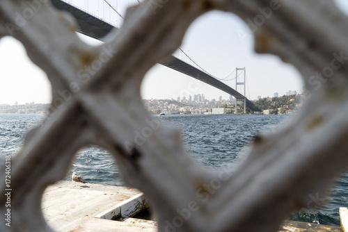 istanbul bosphorus bridge Poster