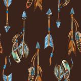 Watercolor tribal arrows seamless pattern. - 172406570