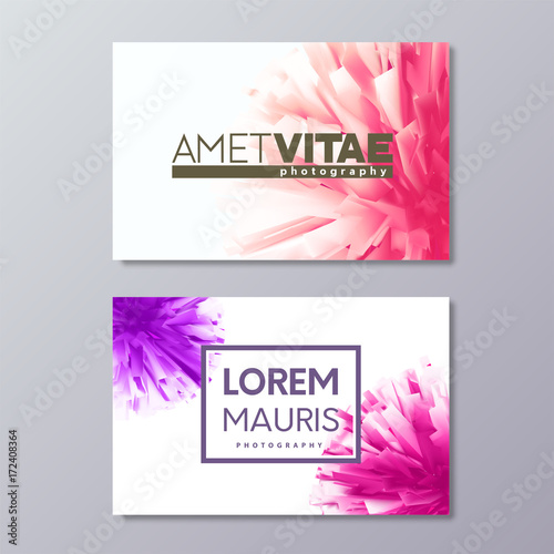 Abstract floral business card templates with colorful vector design abstract floral business card templates with colorful vector design elements accmission Choice Image