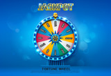 fortune wheel spinning  on bokeh background - 172416360