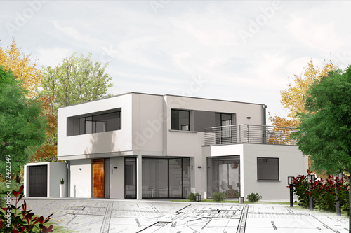 Projet de construction de maison d'architecte - 172422349