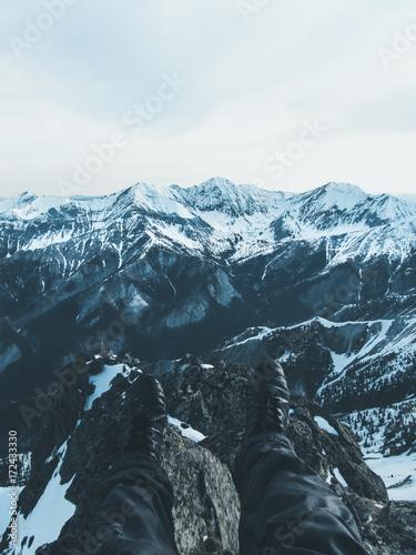 Papiers peints Blanc Adventure to mountains