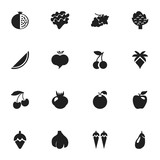 Set Of 16 Editable Dessert Icons. Includes Symbols Such As Fruits, Grapevine, Bunch Of Flowers And More. Can Be Used For Web, Mobile, UI And Infographic Design. - 172435587