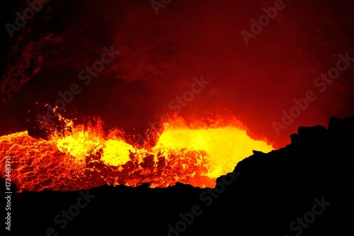 Papiers peints Marron Masaya active volcano lava lake Nicaragua