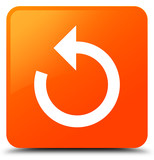 Refresh arrow icon orange square button - 172449122