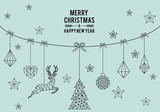 Geometric Christmas card, vector - 172449505