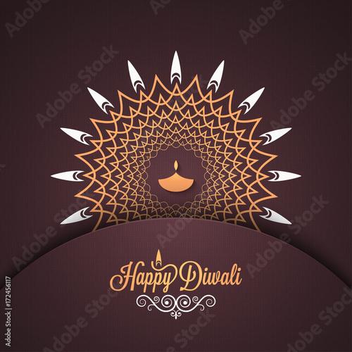 Plakát Diwali vintage card design background.