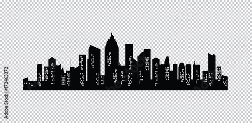 Set of vector cities silhouette - 172463372