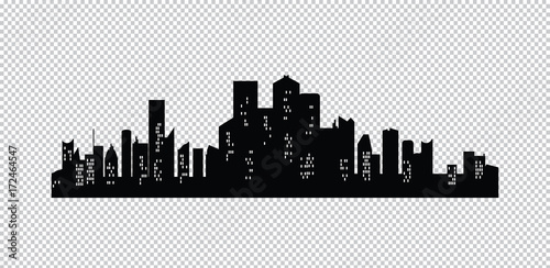 Set of vector cities silhouette - 172464547
