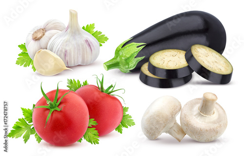 Poster Fresh vegetables isolated