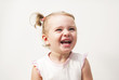 Quadro Beautiful expressive adorable happy cute laughing smiling baby infant face