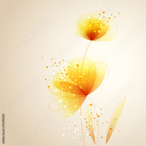 vector background with Flower 100
