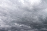 dramatic dark sky with grey clouds before thunderstorm during bad weather